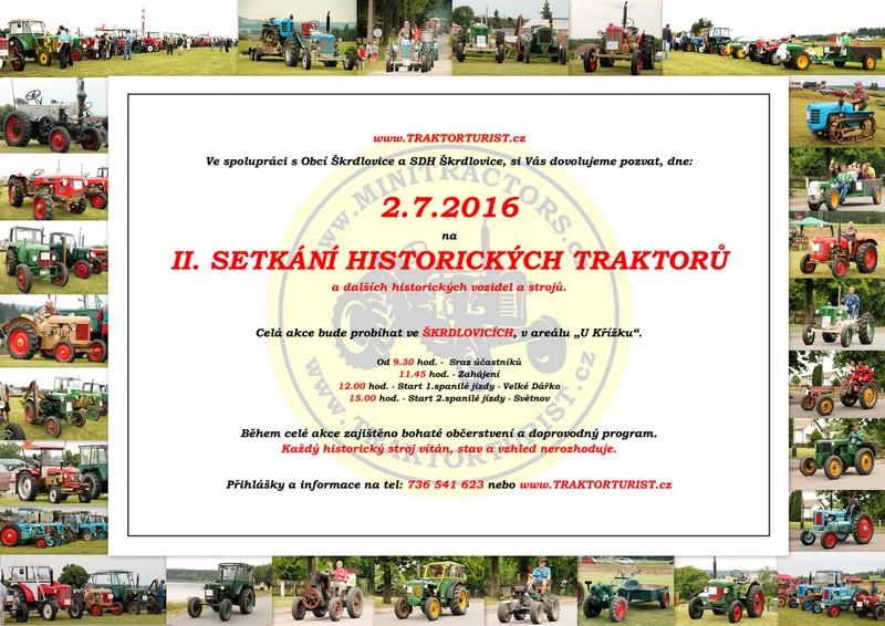 II. setkání historických  traktorů Škrdlovice 2.7.2016